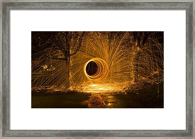 Light Painting Framed Print by Inge Riis McDonald