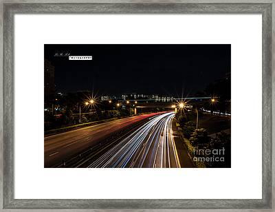 Light Passing Framed Print by Yoo Seok Lee