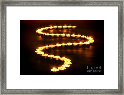 Light Path Framed Print by Olivier Le Queinec