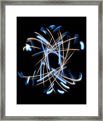 Light Patterns 001 Framed Print