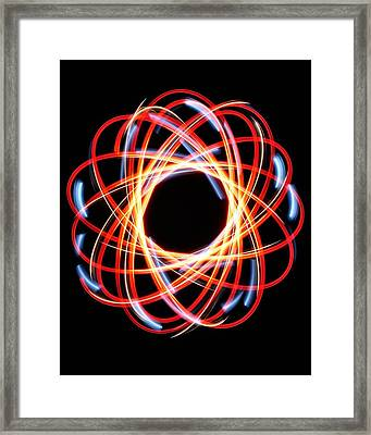 Light Patterns 002 Framed Print