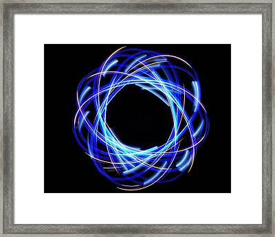 Light Patterns 003 Framed Print
