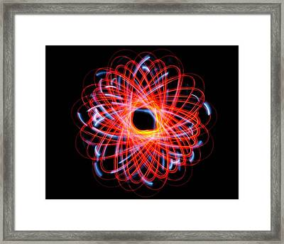 Light Patterns 004 Framed Print