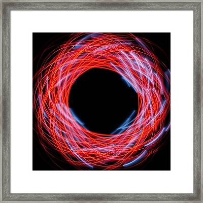 Light Patterns 005 Framed Print