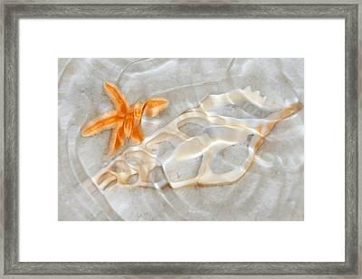Light Patterns In The Sand Framed Print