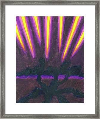 Light Penetrates The Gloom Framed Print