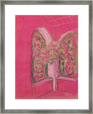 Light Pink Patio Framed Print by Marcia Meade