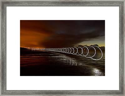 Light Play On Saunton Sands Framed Print by Pete Hemington