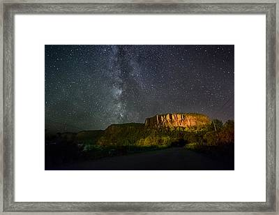 Light Polution Assistance Inspiration Framed Print