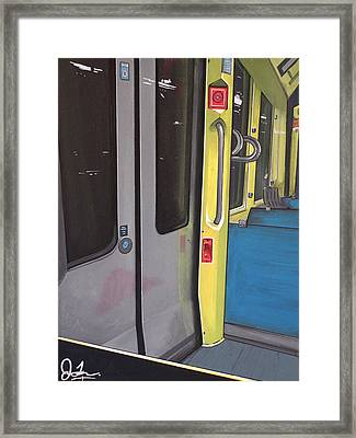 Light Rail Framed Print