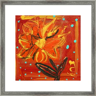 Framed Print featuring the painting Light Rain by Mary Carol Williams