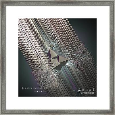 Framed Print featuring the digital art Light Rays by Melissa Messick