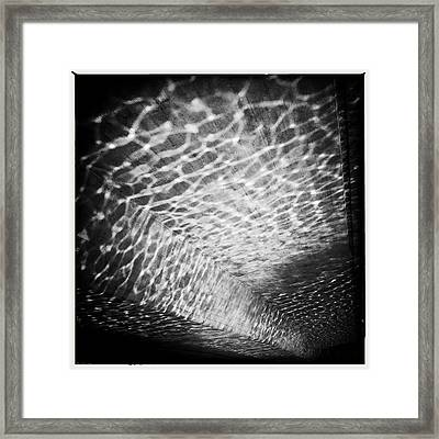 Light Reflections Black And White Framed Print