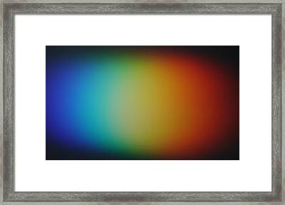 Light Refracted - Rainbow Through Prism Framed Print by Denise Beverly