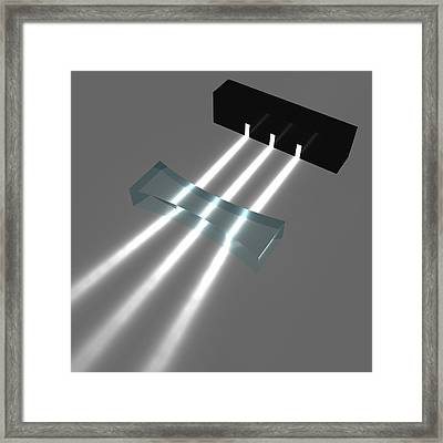 Light Refraction With Biconcave Lens Framed Print
