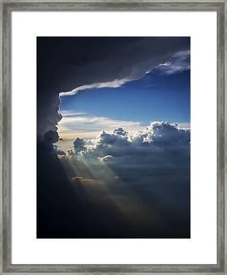 Light Shafts From Thunderstorm II Framed Print