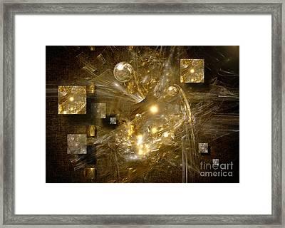 Framed Print featuring the digital art Light Sheeds by Alexa Szlavics