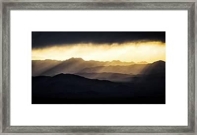 Light Shines In Framed Print