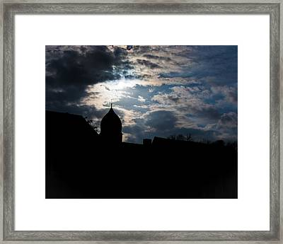 Light Shines In Darkness 2 Framed Print by Marie Sullivan