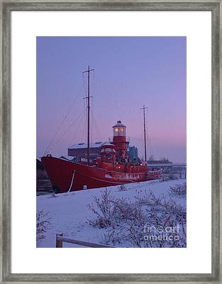 Framed Print featuring the photograph Light Ship by John Williams