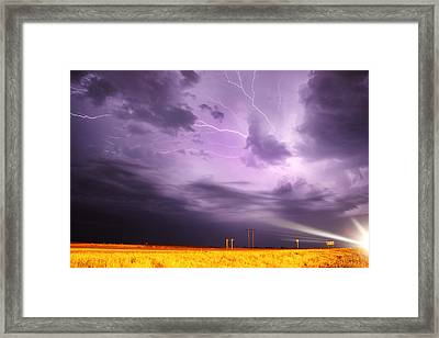 Light Show Over Yorkton Framed Print by Ryan Crouse