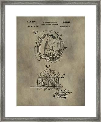 Light Socket Patent Framed Print
