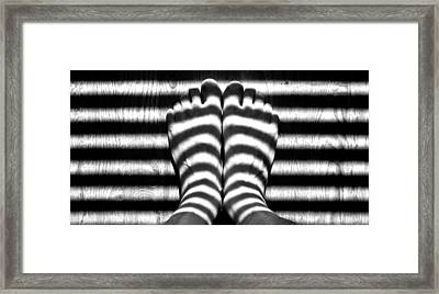 Light Socks Framed Print