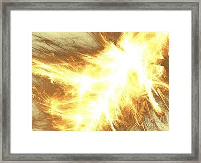 Framed Print featuring the digital art Light Spark by Kim Sy Ok