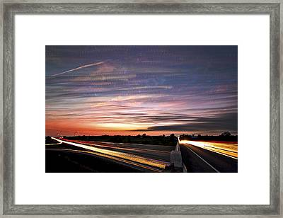 Light Speed Sunset Framed Print by Matt Molloy