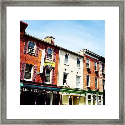 Light Street Gallery Framed Print