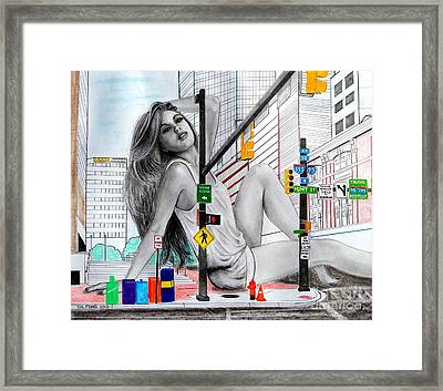 Light Street Framed Print by Gil Fong