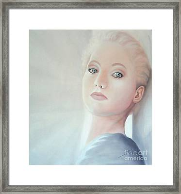Framed Print featuring the painting Light by S G