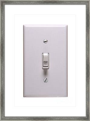 Light Switch On Framed Print by Olivier Le Queinec