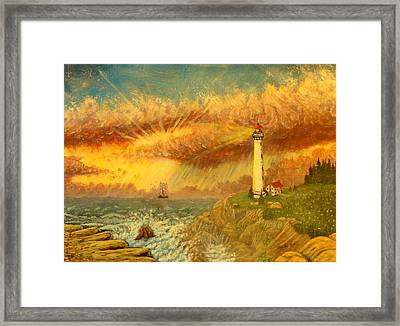 Light That Guides Thee  Framed Print by David Bentley
