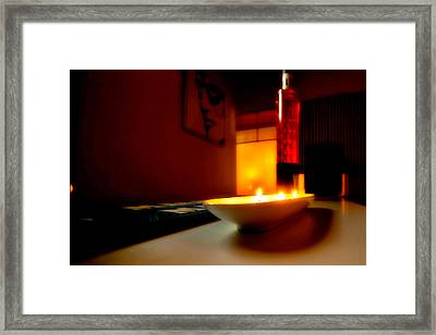 Light The Bottle Framed Print by Melinda Ledsome