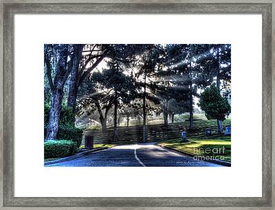 Light Through Darkness Framed Print