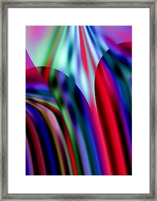 Light Through Stained Glass Windows Framed Print