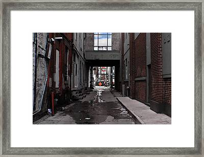 Light Through The Dark  Framed Print by Imtiaz Hamburger