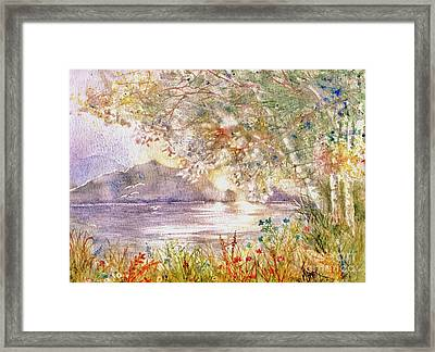 Light Through The Pass Framed Print