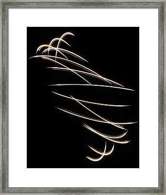 Light Tornado Framed Print