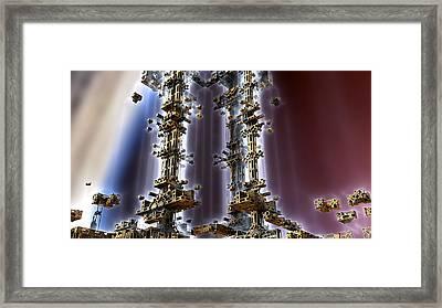 Light Towers Framed Print