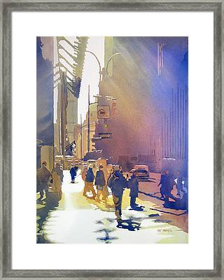 Light Traffic Framed Print