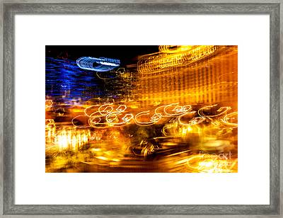 Light Trails Abstract 2 Framed Print