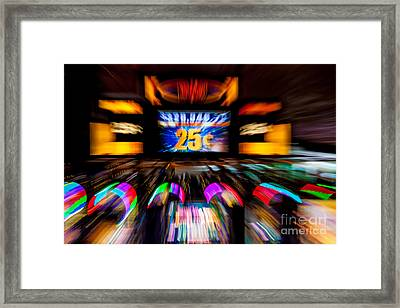 Light Trails Abstract 8 Framed Print