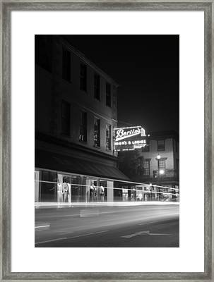 Light Trails Framed Print by Andrew Crispi