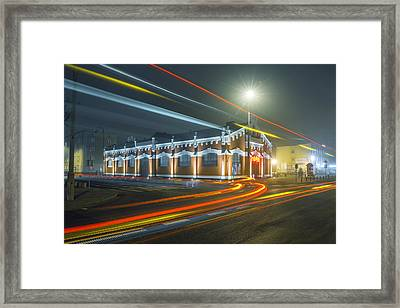 Framed Print featuring the photograph Light Trails by Jaroslaw Grudzinski