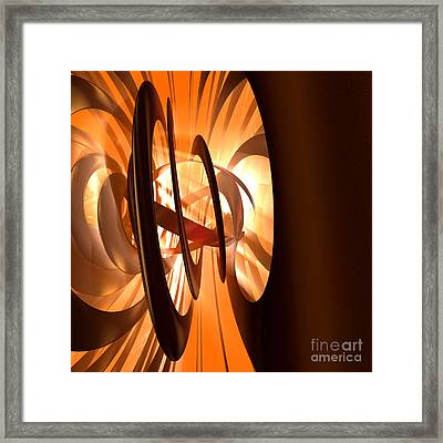 Light Transference Framed Print by Peter R Nicholls