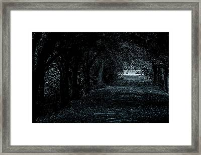 Framed Print featuring the photograph Light Tunnel by Lorenzo Cassina
