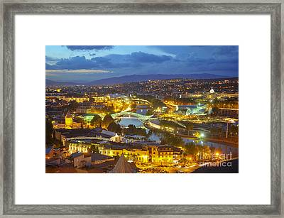 Light View To Old Town Of Tbilisi Framed Print by Andrey Tovstyzhenko