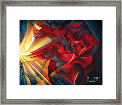 Light Warrior Framed Print by Tiffany Davis-Rustam